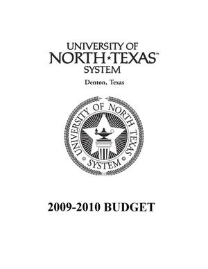 University of North Texas System Budget: 2009-2010