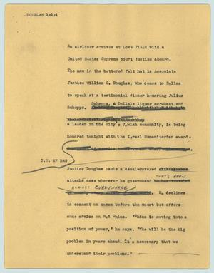 Primary view of object titled '[News Script: Douglas]'.