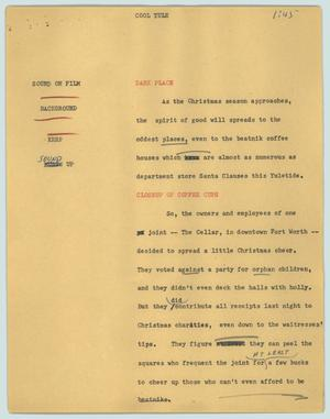 Primary view of object titled '[News Script: Cool yule]'.