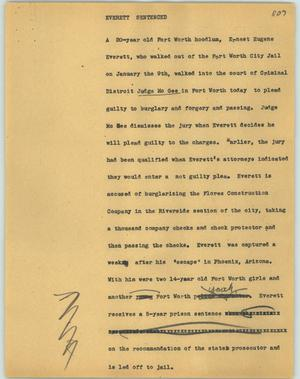 Primary view of object titled '[News Script: Everett sentenced]'.