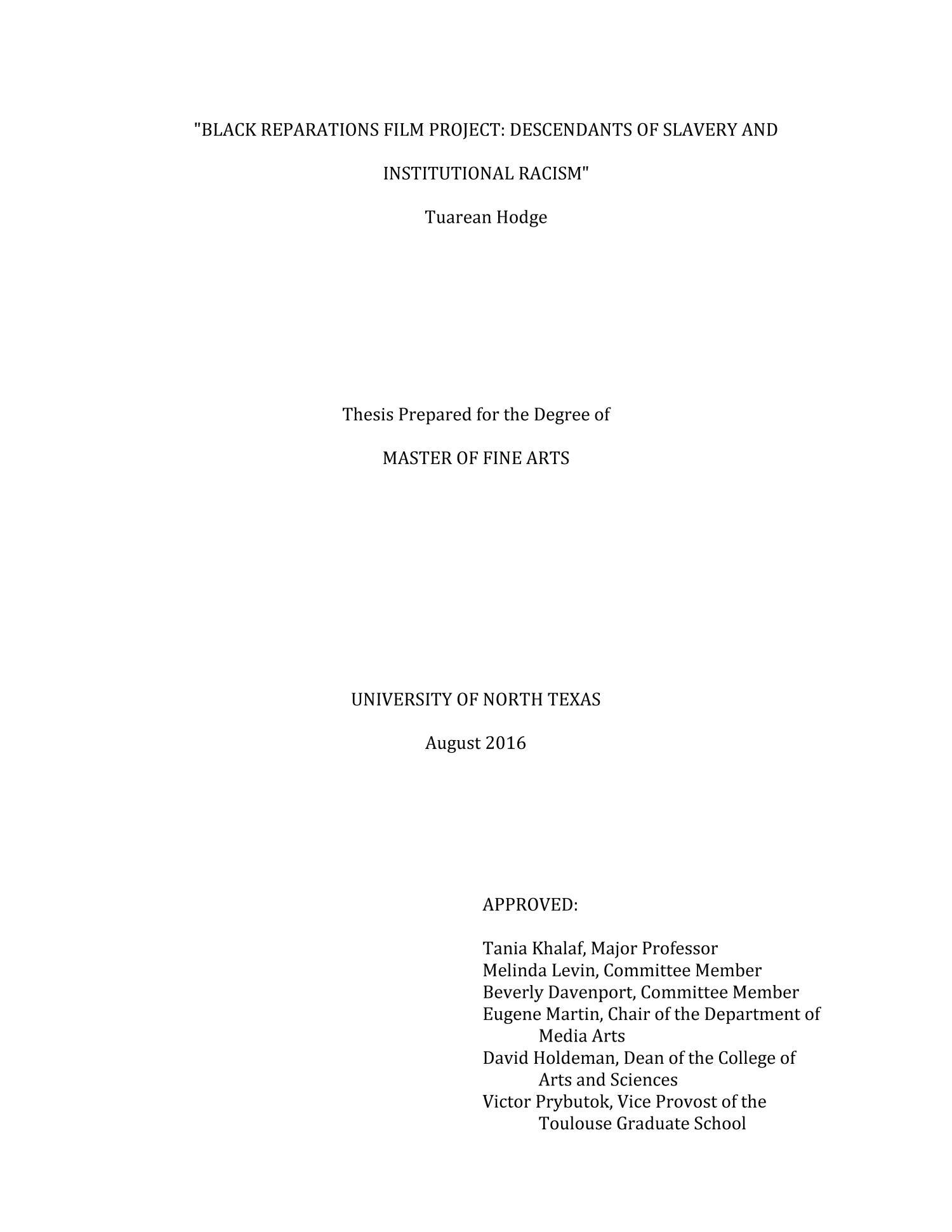 Black film thesis raju kadam resume