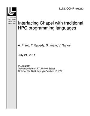 Primary view of object titled 'Interfacing Chapel with traditional HPC programming languages'.