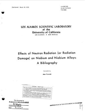 Primary view of object titled 'Effects of Neutron Radiation (or Radiation Damage) on Niobium and Niobium Alloys: A Bibliography.'.