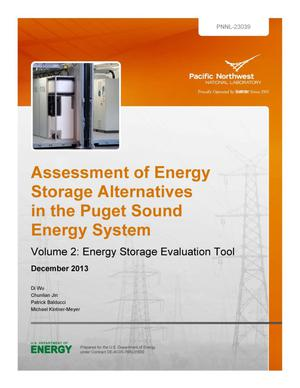 Primary view of object titled 'Assessment of Energy Storage Alternatives in the Puget Sound Energy System Volume 2: Energy Storage Evaluation Tool'.