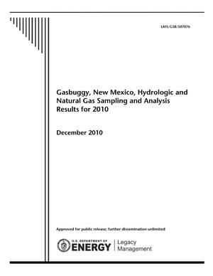 Primary view of object titled 'Gasbuggy, New Mexico, Hydrologic and Natural Gas Sampling and Analysis Results for 2010'.