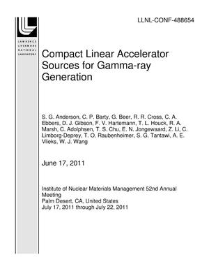 Primary view of object titled 'Compact Linear Accelerator Sources for Gamma-ray Generation'.