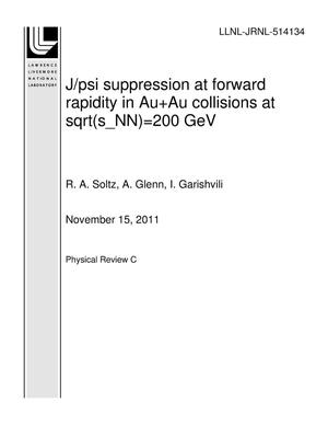 Primary view of object titled 'J/psi suppression at forward rapidity in Au+Au collisions at sqrt(s_NN)=200 GeV'.