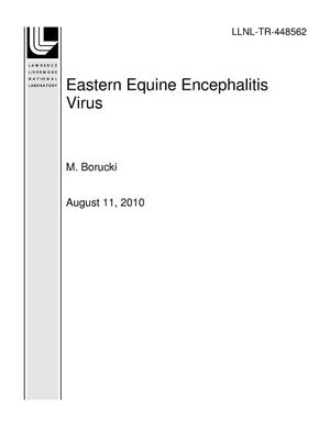 Primary view of object titled 'Eastern Equine Encephalitis Virus'.