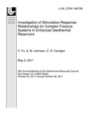Primary view of object titled 'Investigation of Stimulation-Response Relationships for Complex Fracture Systems in Enhanced Geothermal Reservoirs'.