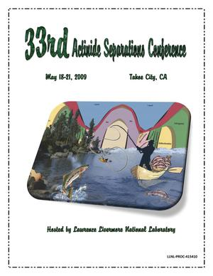 Primary view of object titled '33rd Actinide Separations Conference'.