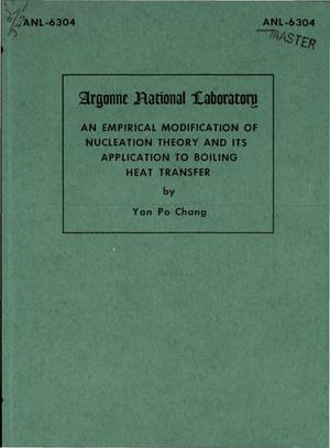 Primary view of object titled 'An Empirical Modification of Nucleation Theory and Its Application to Boiling Heat Transfer'.