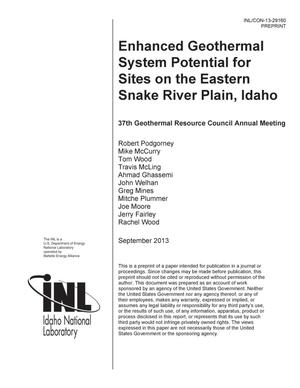 Primary view of object titled 'Enhanced Geothermal System Potential for Sites on the Eastern Snake River Plain, Idaho'.