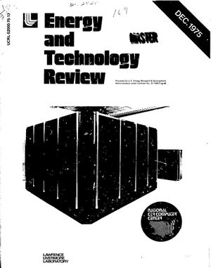 Primary view of object titled 'Energy and technology review'.
