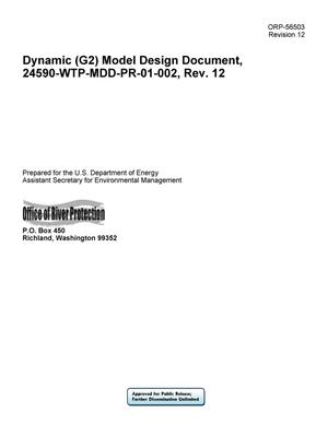 Primary view of object titled 'Dynamic (G2) Model Design Document, 24590-WTP-MDD-PR-01-002, Rev. 12'.