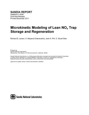 Primary view of object titled 'Microkinetic Modeling of Lean NOx Trap Storage and Regeneration.'.