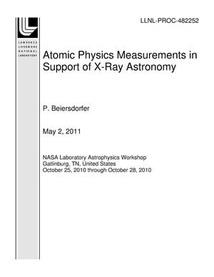 Primary view of object titled 'Atomic Physics Measurements in Support of X-Ray Astronomy'.