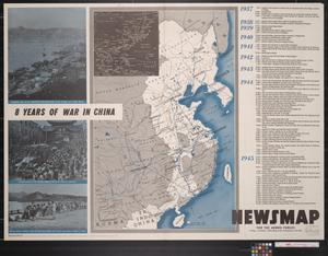 Primary view of object titled 'Newsmap. For the Armed Forces. V-E Day + 10 weeks, 187th week of U.S. participation in the war'.