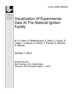 Primary view of object titled 'Visualization Of Experimental Data At The National Ignition Facility'.