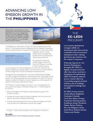Primary view of object titled 'Advancing Low Emission Growth in the Philippines (Fact Sheet)'.