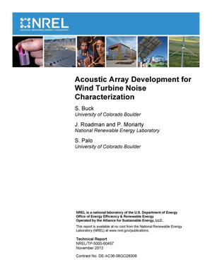 Primary view of object titled 'Acoustic Array Development for Wind Turbine Noise Characterization'.