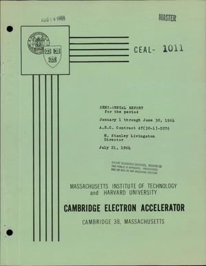 Primary view of object titled 'Semi-Annual Report on Accelerators, January 1-June 30, 1964'.