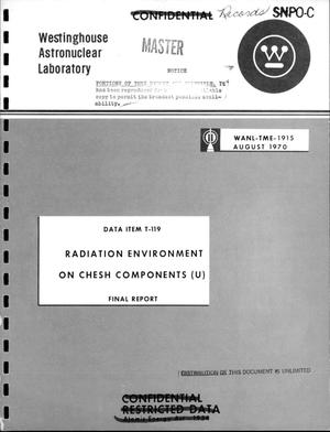 Primary view of object titled 'Radiation environment on CHESH components. Final report'.