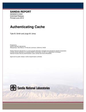 Primary view of object titled 'Authenticating cache.'.