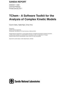 Primary view of object titled 'TChem - A Software Toolkit for the Analysis of Complex Kinetic Models.'.