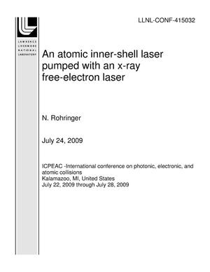 Primary view of object titled 'An atomic inner-shell laser pumped with an x-ray free-electron laser'.