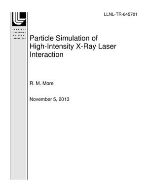Primary view of object titled 'Particle Simulation of High-Intensity X-Ray Laser Interaction'.