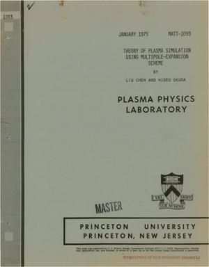 Primary view of object titled 'Theory of plasma simulation using the multipole-expansion scheme'.