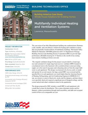 Primary view of object titled 'Multifamily Individual Heating and Ventilation Systems, Lawrence, Massachusetts (Fact Sheet)'.
