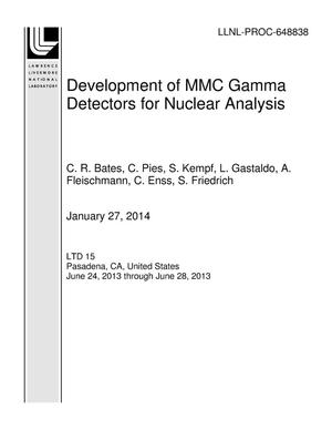 Primary view of object titled 'Development of MMC Gamma Detectors for Nuclear Analysis'.
