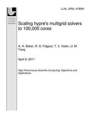 Primary view of object titled 'Scaling hypre's multigrid solvers to 100,000 cores'.