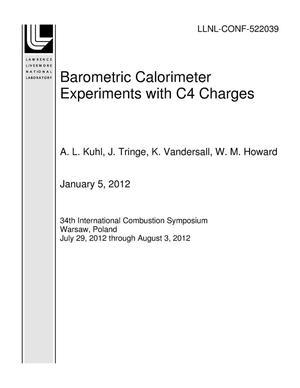 Primary view of object titled 'Barometric Calorimeter Experiments with C4 Charges'.