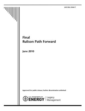 Primary view of object titled 'Final Rulison Path Forward'.