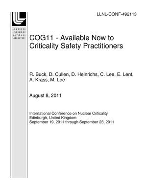 Primary view of object titled 'COG11 - Available Now to Criticality Safety Practitioners'.
