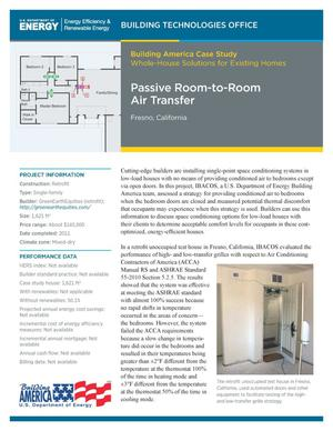 Primary view of object titled 'Passive Room-to-Room Air Transfer, Fresno, California (Fact Sheet)'.