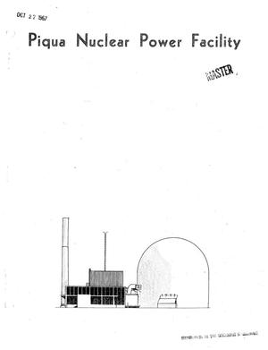 Primary view of object titled 'Piqua Nuclear Power Facility Monthly Operating Report No. 53.'.