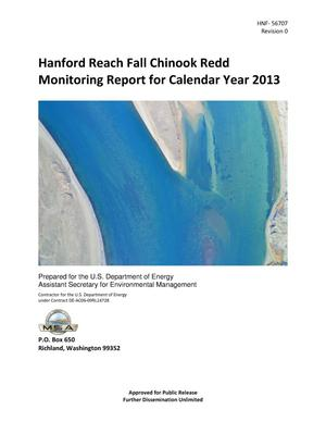Primary view of object titled 'Hanford Reach Fall Chinook Redd Monitoring Report for Calendar Year 2013'.