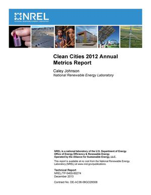 Primary view of object titled 'Clean Cities 2012 Annual Metrics Report'.