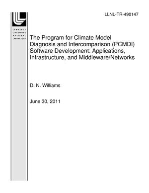 Primary view of object titled 'The Program for Climate Model Diagnosis and Intercomparison (PCMDI) Software Development: Applications, Infrastructure, and Middleware/Networks'.