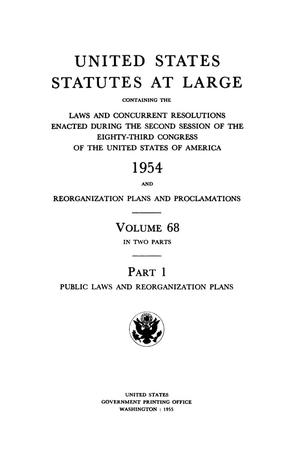 United States Statutes At Large, Volume 68, 1954