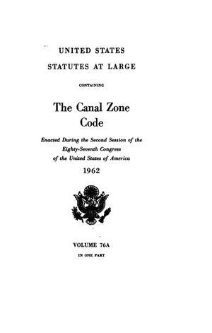 Primary view of object titled 'United States Statutes At Large, Volume 76A, 1962'.