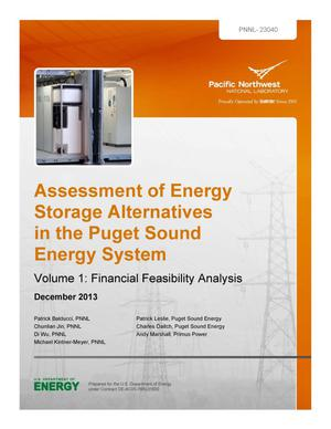 Primary view of object titled 'Assessment of Energy Storage Alternatives in the Puget Sound Energy System'.