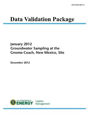 Primary view of object titled 'January 2012 Groundwater Sampling at the Gnome-Coach, New Mexico, Site (Data Validation Package)'.