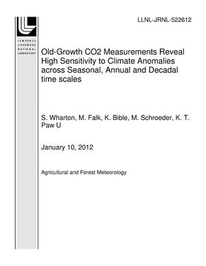Primary view of object titled 'Old-Growth CO2 Measurements Reveal High Sensitivity to Climate Anomalies across Seasonal, Annual and Decadal time scales'.