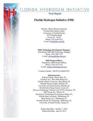 Primary view of object titled 'Florida Hydrogen Initiative'.