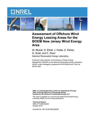 Primary view of object titled 'Assessment of Offshore Wind Energy Leasing Areas for the BOEM New Jersey Wind Energy Area'.