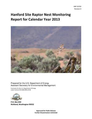 Primary view of object titled 'Hanford Site Raptor Nest Monitoring Report for Calendar Year 2013'.
